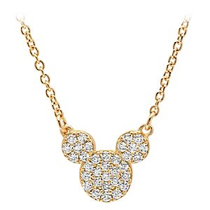 Mickey Mouse Icon Necklace by Crislu - Yellow Gold