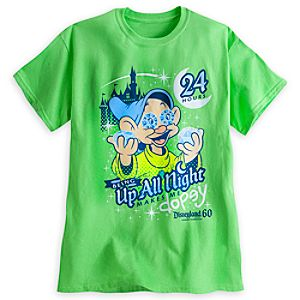 Dopey Up All Night Tee for Adults - Disneyland - Annual Passholder Premiere