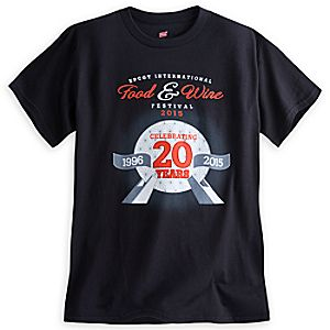 Epcot Food & Wine Festival 20th Anniversary Tee for Adults - Limited Release