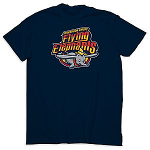 March Magic Tee for Adults - Storybook Circus Flying Elephants - Walt Disney World - Limited Release