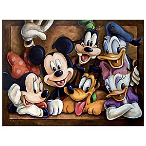 ''The Gang'' Mickey Mouse Giclée by Darren Wilson