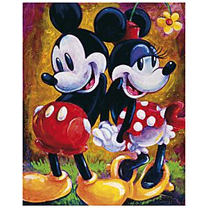 Two Hearts Minnie and Mickey Mouse Giclée by Darren Wilson