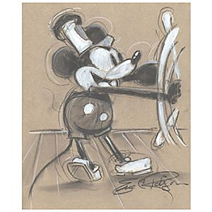 Steamboat Willie Mickey Mouse Giclée by Eric Robison