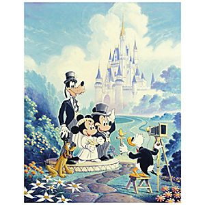 Mickey and Minnie Wedding Walt Disney World Mickey Mouse Giclée by Randy Noble