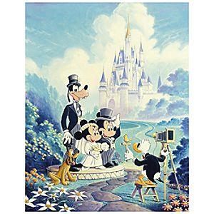 Mickey and Minnie Wedding Walt Disney World Mickey Mouse Giclée by Randy Noble