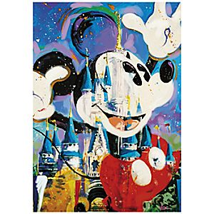 Mickey Mouse and Cinderella Castle Giclée by Randy Noble