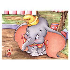 """Dumbo at the Circus"" Giclée by Michelle St.Laurent"