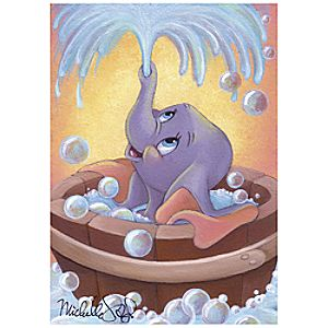"""Dumbo in Bubbles"" Giclée by Michelle St.Laurent"