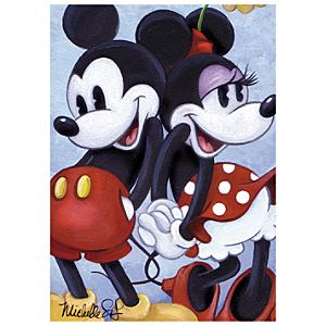 Mickey and Minnie Back to Back Mickey Mouse Giclée by Michelle St.Laurent