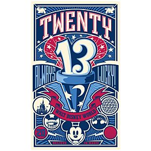 Mickey Mouse 2013 Always Lucky Giclée - Walt Disney World