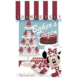 Minnie Mouse Bakers Dozen Giclée - Disneyland