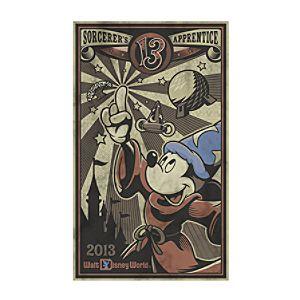 Mickey Mouse Giclée - Sorcerers Apprentice - Walt Disney World