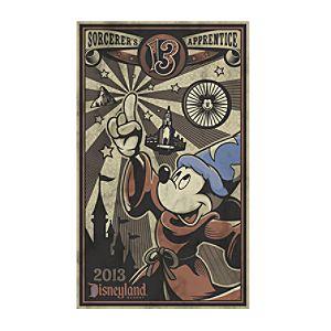 Mickey Mouse Giclée - Sorcerers Apprentice - Disneyland
