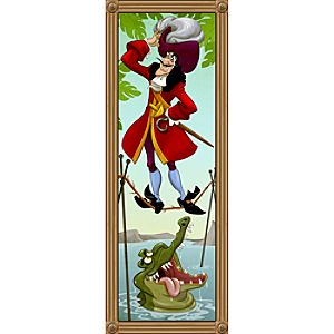 Captain Hook Giclée on Canvas - The Haunted Mansion - Limited Availability