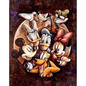 Mickey Mouse and Friends Super Gang Giclée by Darren Wilson