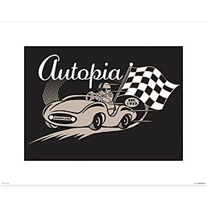 Autopia Poster on Paper - Disneyland - Limited Release