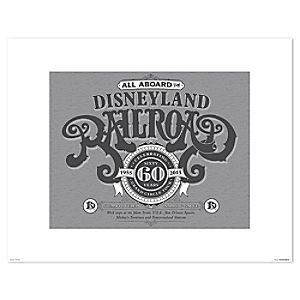 Disneyland Railroad Poster on Paper - 60th Anniversary - Limited Release