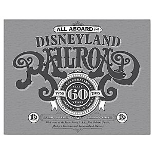 Disneyland Railroad Art Print - 60th Anniversary - Framed or Gallery Wrapped - Limited Release