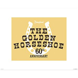 The Golden Horseshoe Poster on Paper - 60th Anniversary - Disneyland - Limited Release
