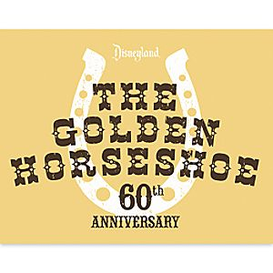 The Golden Horseshoe Giclée - 60th Anniversary - Disneyland - Limited Release