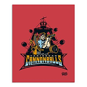 March Magic Poster - Caribbean Cannonballs - Disneyland - Limited Release