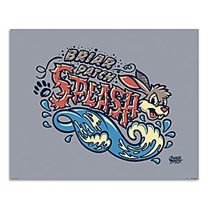 March Magic Poster - Briar Patch Splash - Disneyland - Limited Release