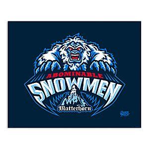 March Magic Poster - Matterhorn Abominable Snowmen - Disneyland - Limited Release