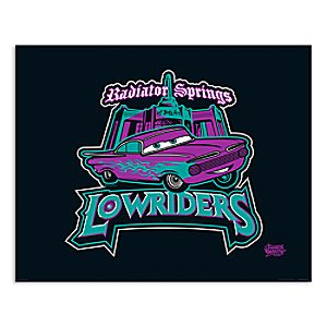 March Magic Poster - Radiator Springs Lowriders - Disneyland - Limited Release