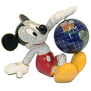 Mickey Mouse Figurine with Globe by Arribas Brothers