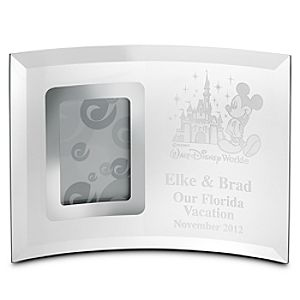 Personalizable Walt Disney World Glass Frame by Arribas