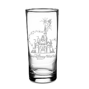 Personalizable Walt Disney World Castle and Tinker Bell Glass Tumbler by Arribas