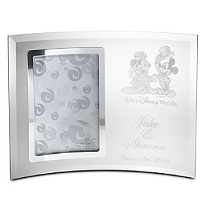 Personalizable Minnie and Mickey Mouse Glass Frame by Arribas