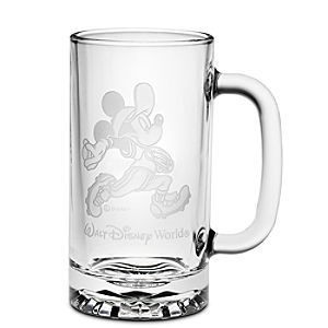 Personalizable Glass Baseball Mickey Mouse Stein by Arribas
