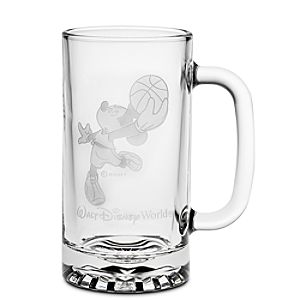 Personalizable Glass Basketball Mickey Mouse Stein by Arribas