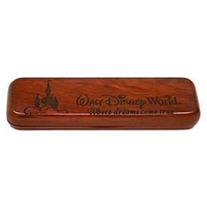 Personalizable Rosewood Walt Disney World Pen Case by Arribas