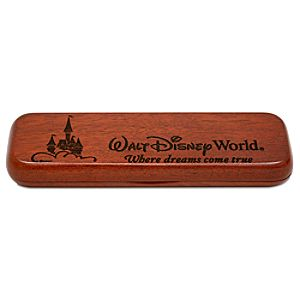 Personalizable Rosewood Walt Disney World Double Pen Case by Arribas