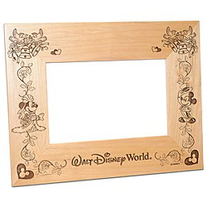 Personalizable Walt Disney World Minnie and Mickey Mouse Wedding Photo Frame by Arribas -- 4 x 6