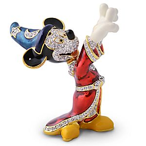Jeweled Sorcerer Mickey Mouse Figurine by Arribas