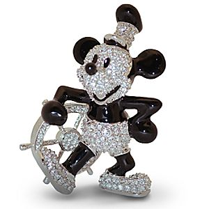 Jeweled Steamboat Willie Mickey Mouse Figurine by Arribas