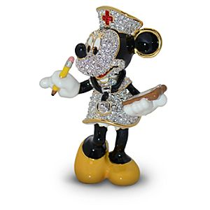 Jeweled Nurse Minnie Mouse Figurine by Arribas
