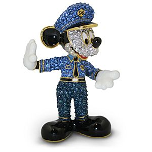 Jeweled Policeman Mickey Mouse Figurine by Arribas