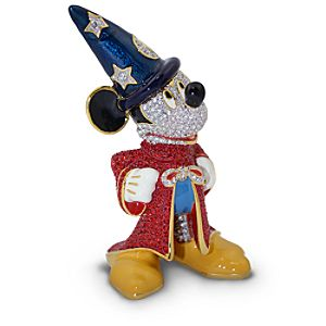 Jeweled Sorcerer Mickey Mouse Figurine by Arribas -- 3 1/2 H