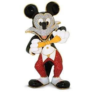 Jeweled Tuxedo Mickey Mouse Figurine by Arribas -- 5 1/2 H