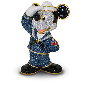 Jeweled Navy Mickey Mouse Figurine by Arribas