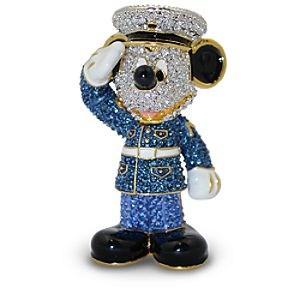 Jeweled Marine Mickey Mouse Figurine by Arribas