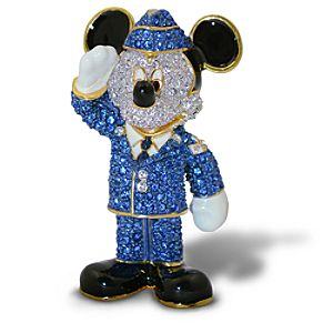 Jeweled Air Force Mickey Mouse Figurine by Arribas