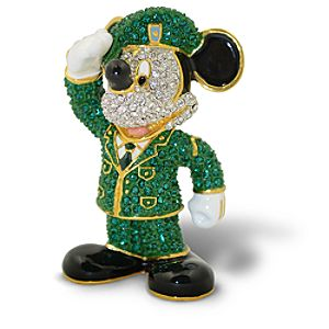 Jeweled Army Mickey Mouse Figurine by Arribas