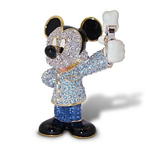 Jeweled Dentist Mickey Mouse Figurine by Arribas