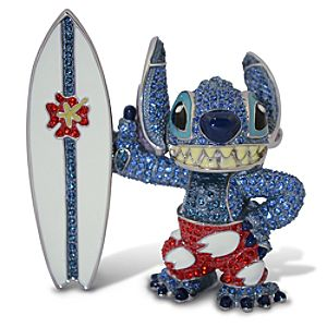 Jeweled Surfin Stitch Figurine by Arribas