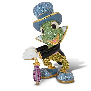 Jeweled Jiminy Cricket Figurine by Arribas -- 3 H